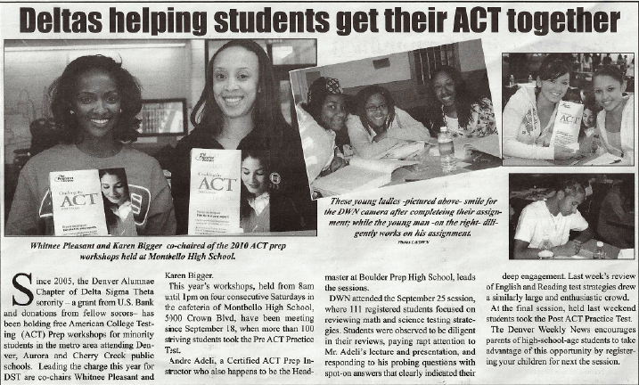 ACTPrep_Newspaper Article